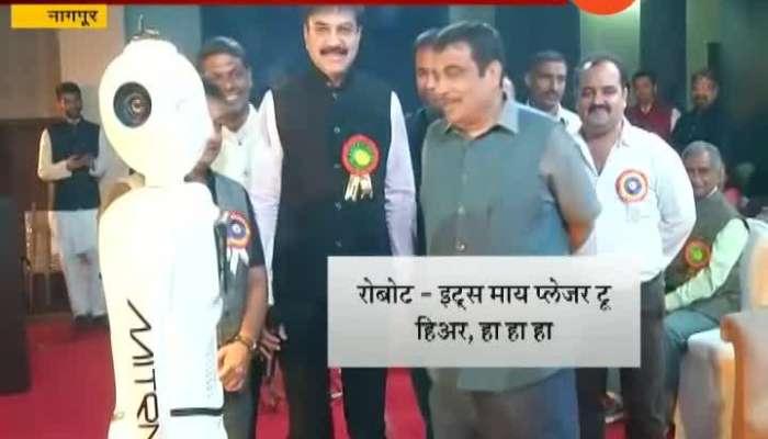 Nagpur Nitin Gadkari Chat With Robo