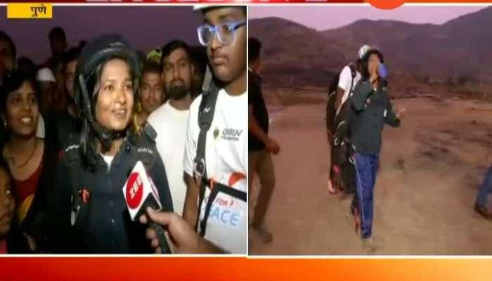 Pune Victim Of Pune German Bakery Blast Amrapali Chavan Doing Paragliding