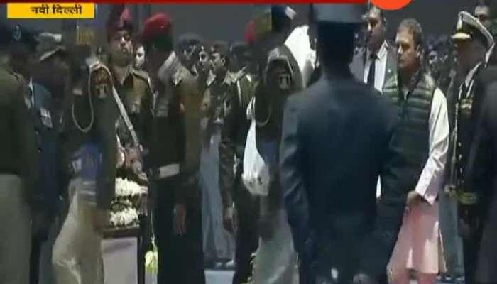 New Delhi Rahul Gandhi Pay Homage To Slain CRPF Jawans