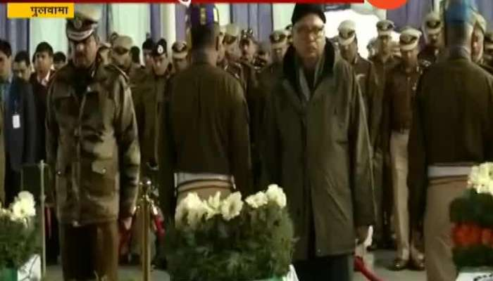 Rajnath Singh Enter And Visit In Pulwama