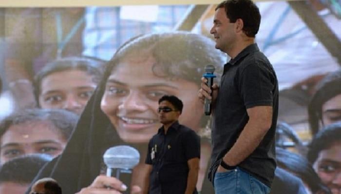 VIDEO: राहुल गांधी विद्यार्थिनीला म्हणाले, मला सर नको फक्त राहुल म्हण...