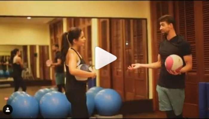VIDEO : ऑलिम्पिक पदक विजेत्या मायकल फेल्पसोबत कतरिनाचा 'वर्क आऊट'