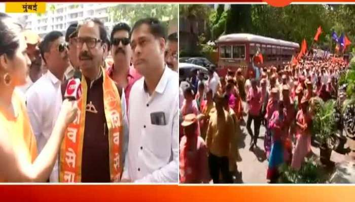 Mumbai Shiv Sena Leader Gajanan Kirtikar Filing Nomination Form For Lok Sabha Election