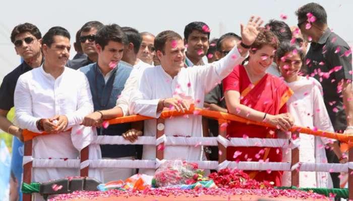 राहुल गांधी यांचा अमेठीमधून उमेदवारी अर्ज दाखल, जोरदार शक्तिप्रदर्शन