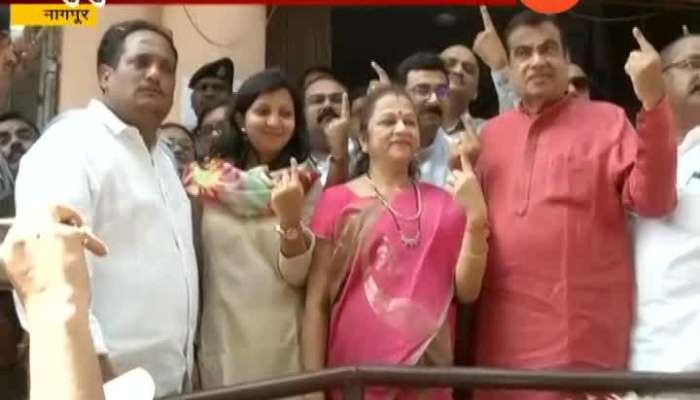 Nagpur BJP Minister Nitin Gadkari And Family Mambers Reacts After Voting For Lok Sabha General Election