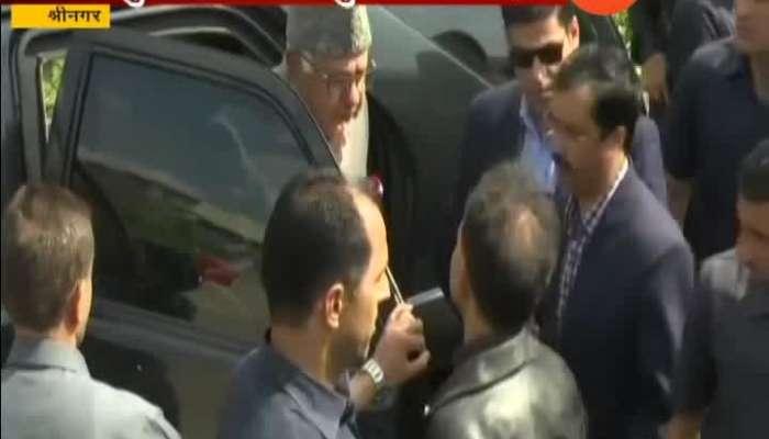 Shrinagar Farooq Abdullah Cast Vote With His Son