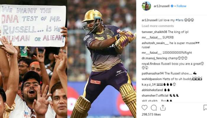 IPL 2019: 'आंद्रे रसेल माणूस का एलियन? डीएनए टेस्ट करा'