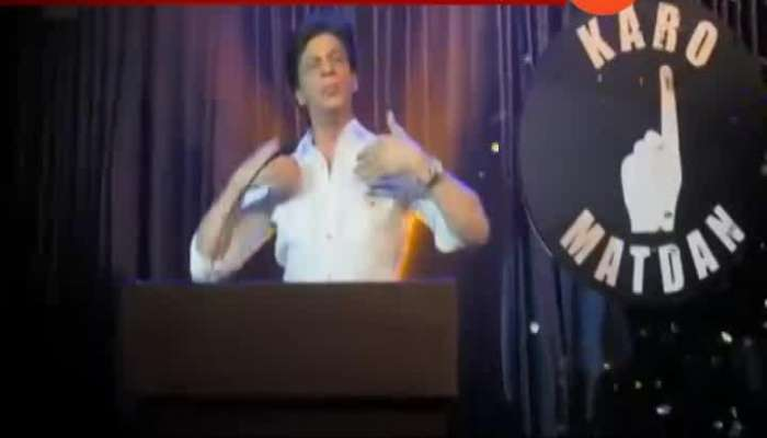 Bollywood Actor Shahrukh Khan Sings For Public Awareness Campaign To Vote