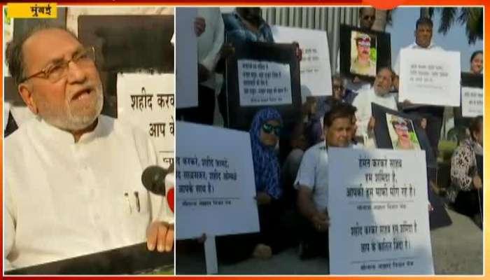 Mumbai Hussain Dalvai Protest For Sadhvi Pragya Remark On Martyrs