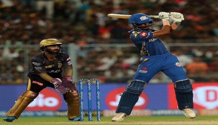 आयपीएल 2019   हार्दिक पांड्याची झुजं अपयशी, कोलकाताची मुंबईवर ३४ रनने मात