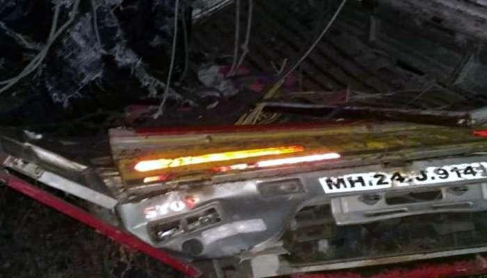 लातूर येथील अपघातात ५ जण जागीच ठार तर ६ जण गंभीर