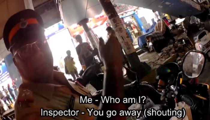 व्हिडिओ : मग्रुर पोलिसाची दबंगगिरी कॅमेऱ्यात कैद