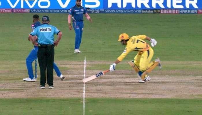 IPL 2019 : धोनीच्या विकेटवरुन शंकाच, नेटकऱ्यांमध्ये नाराजी
