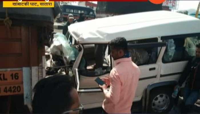 Pune Bengaluru Highway Road Accident of Bolero And Truck