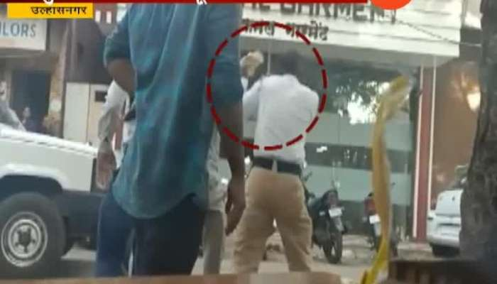 Ulhasnagar Two Wheeler Rider Attack On Traffic Police