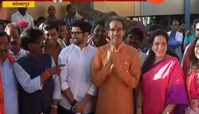 Shivsena Uddhav Thackeray With Family To Visit Kolhapur Ambabai Temple With All Shivsena MP