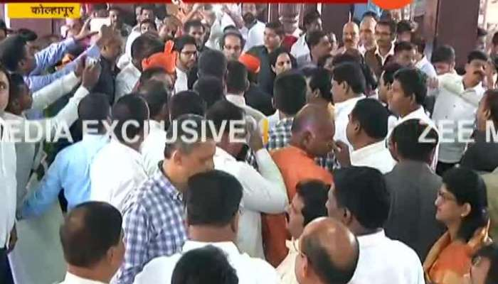 Shivsena Uddhav Thackeray And Family With All MPs Reached Kolhapur Airport