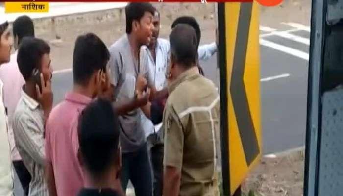Nashik Attack On Palika Bus Driver