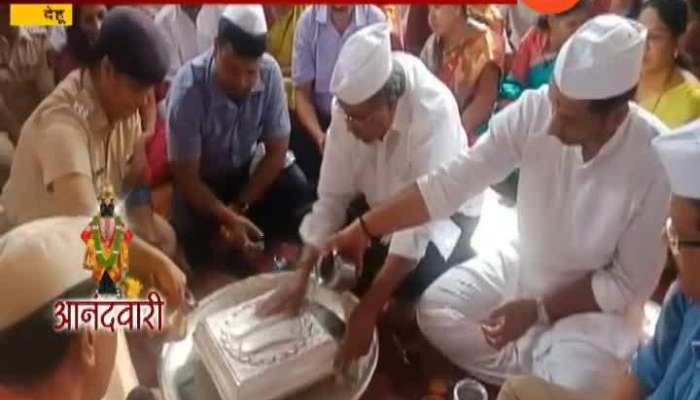 Dehu Minister Chandrakant Patil And NCP Leader Parth Pawar Jointly Performed For Sant Tukaram Palkhi