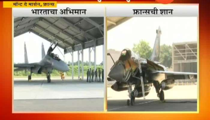 IAF_s Sukhoi 30 Flies With Rafale,Mirage 2000 During Indo French Garuda Excercise