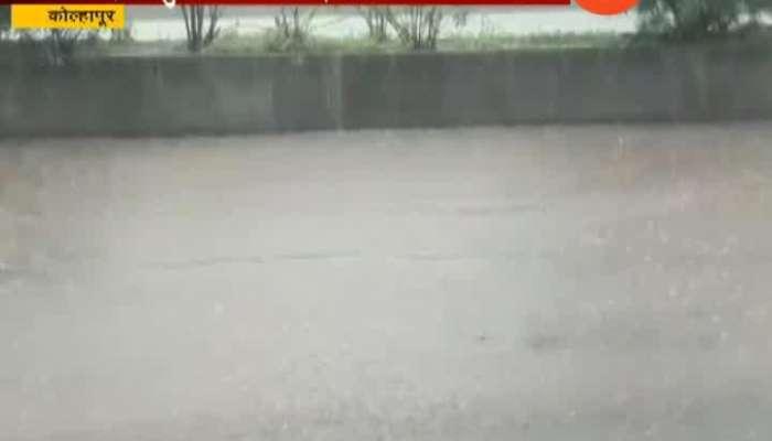 heavy rain in kolhapur waterlogging