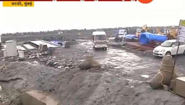 Mumbai Worli One Dead Near Coastal Road Project