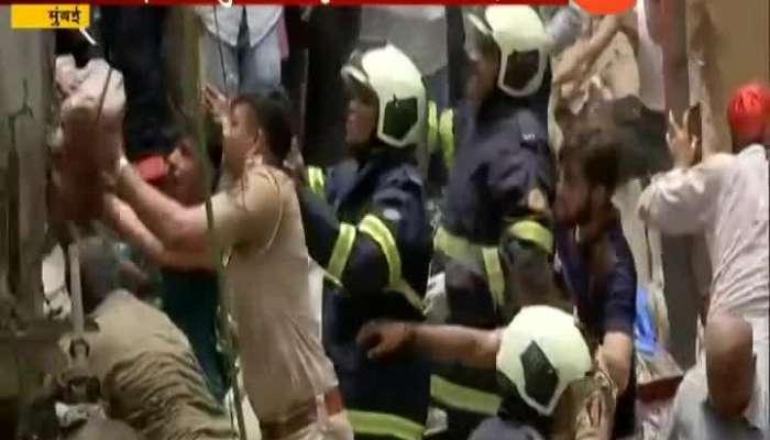 four floor building collapsed in dongri area of mumbai death toll raises rescue operation is underway