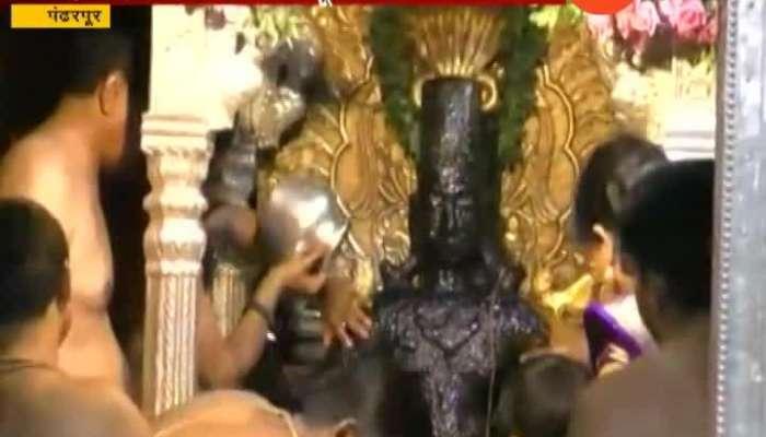 Ashadhi Ekadashi prakshal pooja in pandharpur