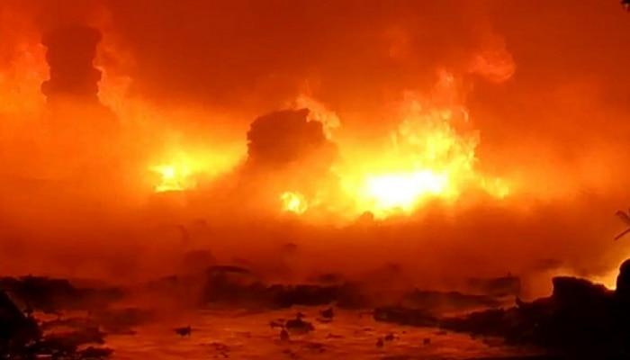 भिवंडीत केमिकल्सच्या गोदामाला भीषण आग