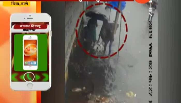 Women file to drain in Thane