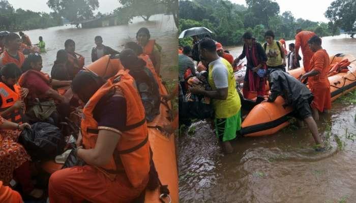 'महालक्ष्मी एक्सप्रेस'मध्ये मदतकार्य सुरु, NDRF, हेलिकॉफ्टर, बोटीनं बचावकार्य सुरू