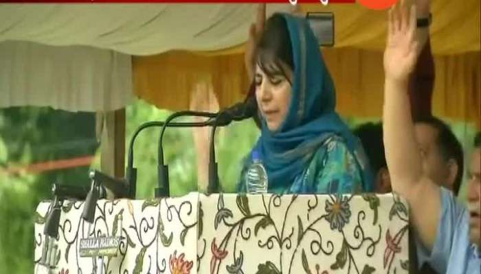 Tinkering with Artical 35A Will be like setting powder on fire says mehbooba mufti