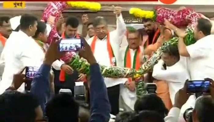 Megha Bharati in BJP Party in Mumbai