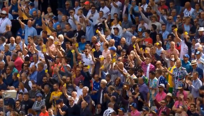 प्रेक्षकांनी डेविड वॉर्नरला मैदानावर डिवचलं