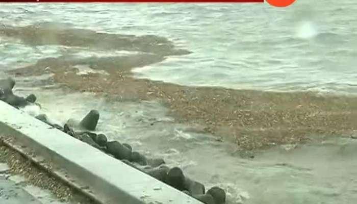 Mumbai Alert For Heavy Rain As Heavy Trash Floating In Sea