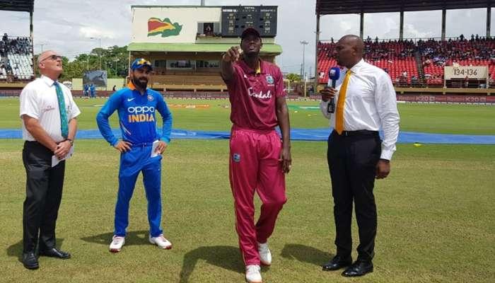 वेस्ट इंडिजविरुद्धच्या दुसऱ्या वनडेमध्ये टॉस जिंकून भारताची बॅटिंग