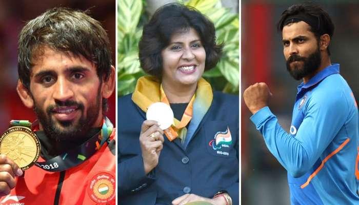 रवींद्र जाडेजाला अर्जुन, बजरंग पुनियाला खेलरत्न जाहीर