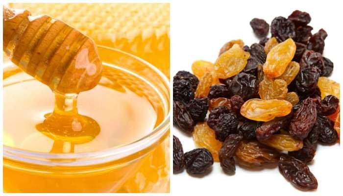 मध आणि मनुके आरोग्यास लाभदायक