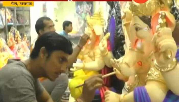 Raigad,Pen Ganesh Murti Artist In Problem