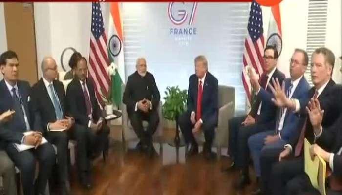 France Meet with G7 PM Modi meet Trump