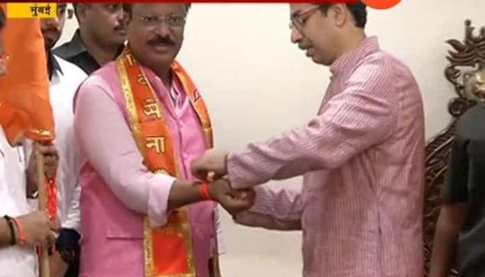 Solapur Congress Leader Dilip Mane Joined Shiv Sena