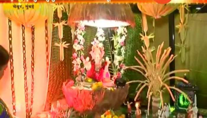 vMumbai Chembur Mule Family Ganpati With Eco Friendly Decoration