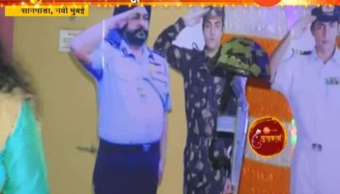 Navi Mumbai Sanpada Maruti Pradhan Tribute To Indian Soldier