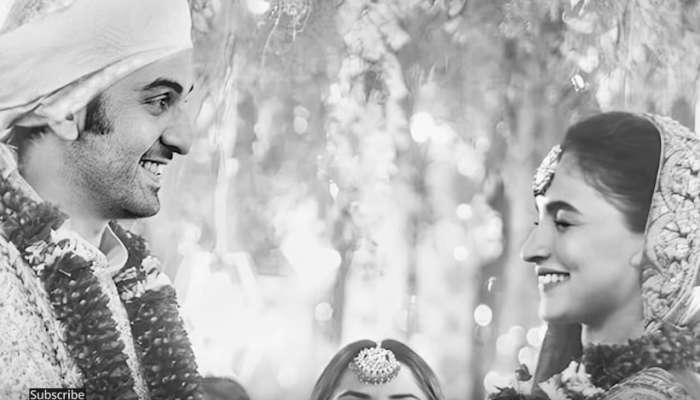 सोशल मीडियावर आलिया रणबीरचे विवाह फोटो व्हायरल