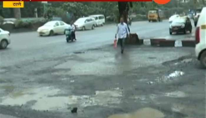 Thane Rection People Bad Condition Potholes Road