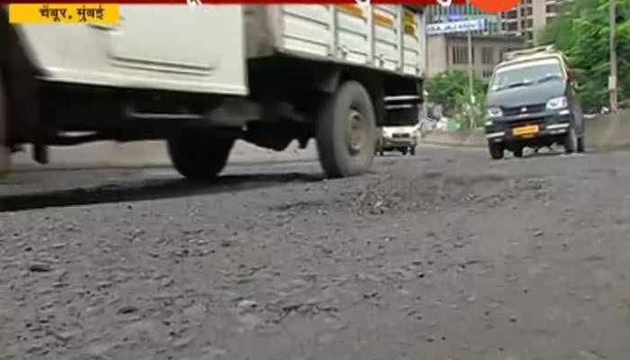 Mumbai Shivadi Chembur Bad Condition Road Potholes 17 Sep 2019