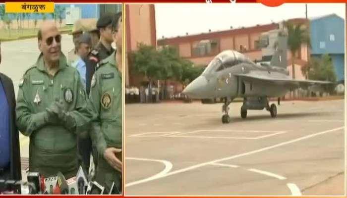 Bengaluru Defence Minister Rajnath Singh On Flying IAF Tejas LCA