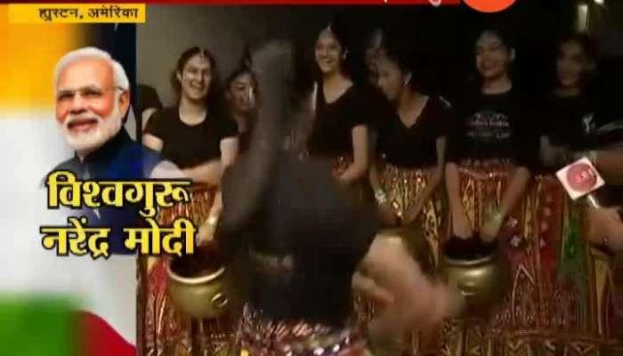 USA Visit PM Narendr modi Howdy Modi Rection young Girl ini sanskruti darshian 22 Sep 2019