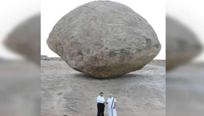 मोदी आणि जिनपिंग यांच्या फोटोतील दगड १२०० वर्षांपासून एकाच जागेवर