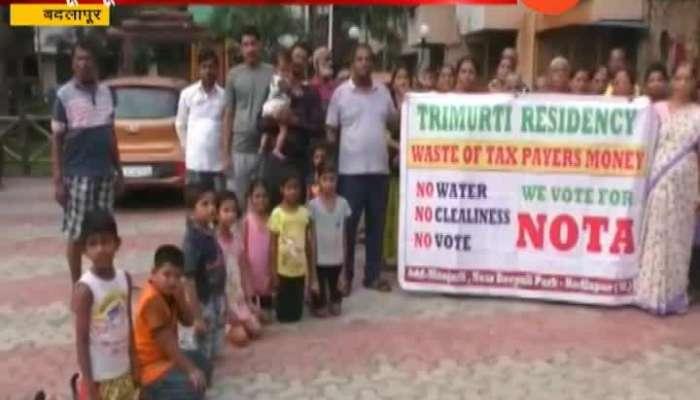 Badlapur People No Vote Election
